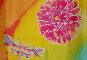 Curious Silk Painted Scarf