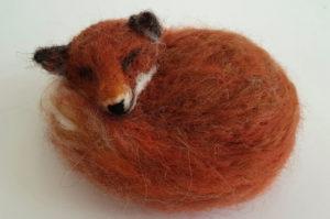 Felted Sleepy Fox