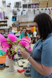 Headdress making