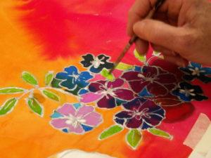 Curious Silk Painting