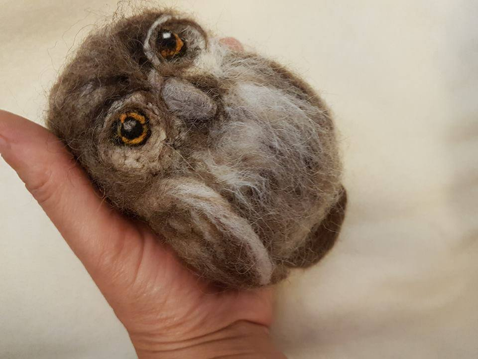 Felted Little Owl